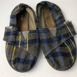 Toms Little Boy Slip On Shoes Size 9 Blue